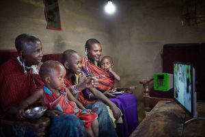 Mbox Solar home power system in Africa