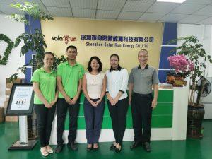 Lighting Global China liaison Mr. Hui