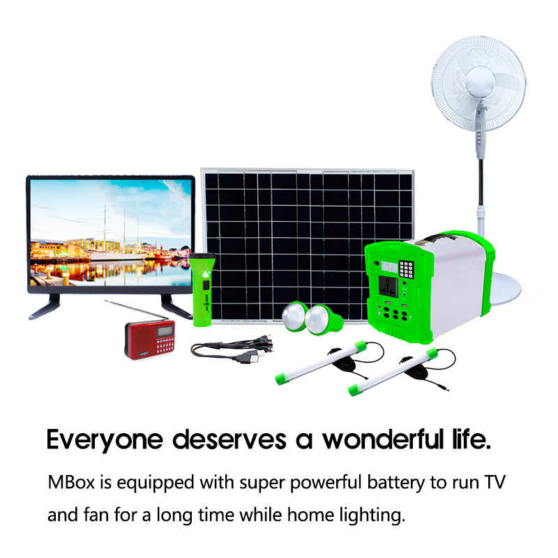 Solarun Mbox Pay as you go home solar energy system