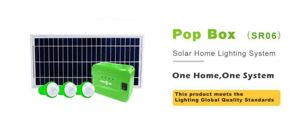 Solar Run Pop Box Solar Home System