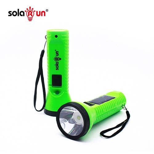 solar run solar flashlight